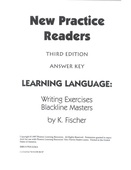 New Practice Readers - Activity Blacklines - Teacher Manual