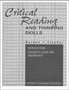 Critical Reading and Thinking Skills - Introduction Teacher Guide