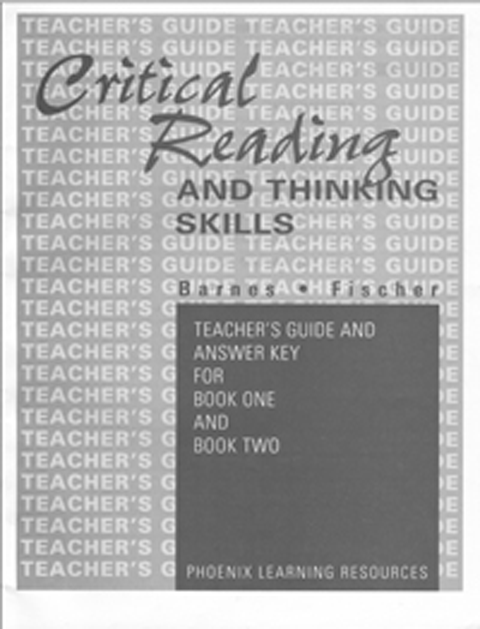 critical thinking and critical reading The critical thinking company publishes prek-12+ books and software to develop critical thinking in core subject areas.