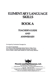 Elementary Language Skills - Book A Teachers Guide