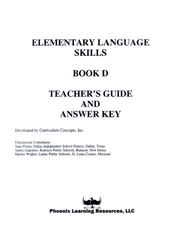Elementary Language Skills - Book D Teachers Guide