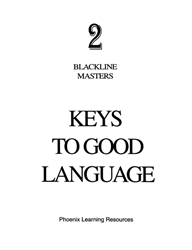 Keys to Good Language - Grade 2 Blackline Masters