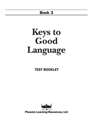 Keys to Good Language - Grade 3 Test