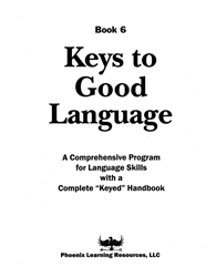 Keys to Good Language - Grade 6 Test