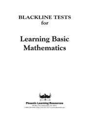 Learning Basic Mathematics - Placement Tests
