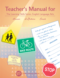 Learning Skills: English Language Arts - Teachers Manual