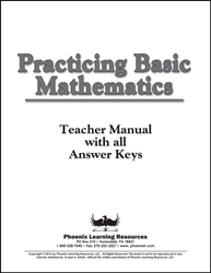 Practicing Basic Math - Teacher Manual/Answer Key