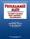 Programmed Math - TM, Addition - Measurements