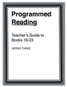 Programmed Reading - Book 16-23 Teacher's Guide