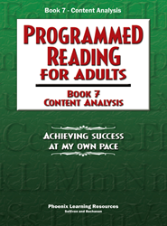 Programmed Reading for Adults - Book 7 - Content Analysis