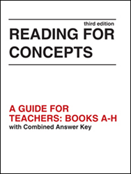 Reading for Concepts Teacher Guide & Answer Key
