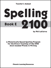 Spelling 2100 - Book E - Teachers Guide