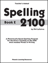 Spelling 2100 - Book E - Teacher's Guide