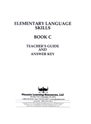 Elementary Language Skills - Book C Teachers Guide