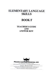 Elementary Language Skills - Book F Teachers Guide