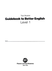 Guidebook to Better English - Level 1 - Test
