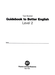 Guidebook to Better English - Level 2 - Test