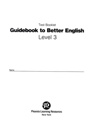 Guidebook to Better English - Level 3 - Test