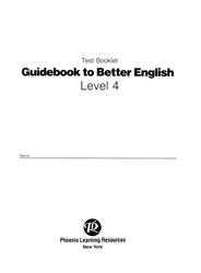 Guidebook to Better English - Level 4 - Test