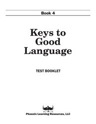 Keys to Good Language - Grade 4 Test
