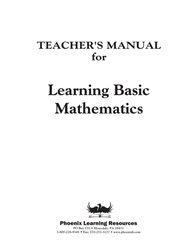 Learning Basic Mathematics - Teachers Manual