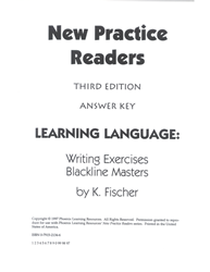 New Practice Readers - Activity Blacklines - Teacher Manual
