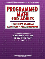 Programmed Math for Adults - Teacher's Manual, Addition - Measurements