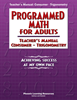 Programmed Math for Adults - Teacher's Manual, Consumer Math - Trigonometry